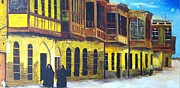 Baghdad Painting Framed Prints - Shanasheel of Old Baghdad Framed Print by Rami Besancon