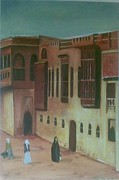 Old Iraqi City Paintings - Shanashil of Baghdad 2 by Rami Besancon