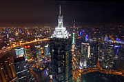 Shanghai Photos - Shanghai at Night by Lars Ruecker