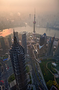 Travel China Posters - Shanghai China Poster by Fototrav Print