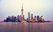 Fototrav Print - Shanghai Pudong cityscape at sunset