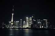 China Art - Shanghai Skyline Split Tone by Rich Scillath