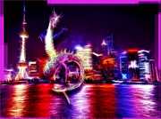 Delta Town Framed Prints - Shanghai Wild Night - Real Shanghai Framed Print by Daniel Janda