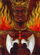 Santeria Paintings - Shango Orisha Of Justice by Carolina Gonzalez