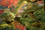 Ishidoro Prints - Shangri-La Garden Print by Michael Wheatley