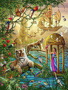 Tiger Dream Prints - Shangri La Summer Print by Ciro Marchetti