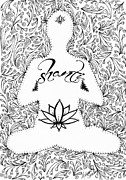 Word Drawings - Shanti by Melissa Sherbon