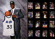 Dunk Photo Framed Prints - Shaquille Oneal Framed Print by Joe Hamilton
