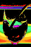Wine Pouring Digital Art Posters - Shards  Poster by Marcie Sutton