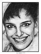 Closeups Drawings - Shari Belafonte in 1985 by J McCombie