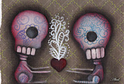 Pop Surrealism Paintings - Sharing the Love by  Abril Andrade Griffith