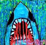 Sharks Paintings - Shark by Curtis Bean