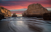 Davenport Framed Prints - Shark Fin Cove Framed Print by About Light  Images