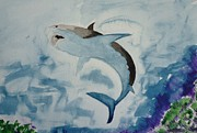Sharks Paintings - Shark by Jo Ann