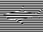 Abstract Digital Art - Shark optical illusion by Pixel Chimp