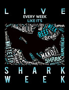 Dogfish Prints - Shark Week Print by Angela  Bautista-diaz