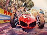 Ferrari Watercolor Posters - Sharknose Poster by Robert Hooper