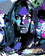 Film Star Prints - Sharon Tate Print by Allen Glass