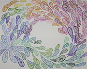 Featured Drawings Originals - Sharpili Feathers by Christie Mamanna