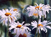 White Flower Paintings - Shasta Parade by Sharon Freeman