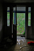Abandoned Houses Photos - Shattered Entry by Emily Stauring