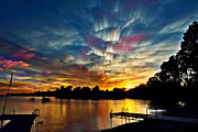 Water Reflection Digital Art Posters - Shattered Rainbow Poster by Matt Molloy