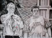Humor Drawings Originals - Shaun and Ed by Jeremy Moore