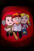 Movie Art Paintings - Shaun of the Dead by Marisela Mungia