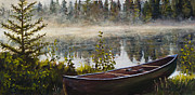 Canoe Metal Prints - Shavasana Metal Print by Mary Giacomini