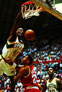 Dunk Photo Metal Prints - Shawn Kemp Slam Dunk Metal Print by Sanely Great