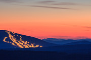 Maine Scenes Prints - Shawnee Peak at Dusk Print by Stephen Beckwith