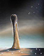 Long Hair Paintings - She Cried A Miracle For You Today by Shawna Erback by Shawna Erback