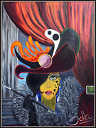 Theatre Painting Originals - She Devil   by Jolanta Anna Karolska