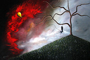 Surreal Paintings - She Feels Your Memories by Shawna Erback by Shawna Erback