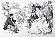 Turn Of The Century Drawings - She Goes Into Colors by Ira Shander