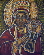 Black Madonna Paintings - She Hears by Marie Howell Gallery