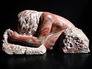 Carving In Stone Sculptures - She Holds The Earth by Francine Frank