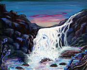 Waterfalls Paintings - She Is by Gloria Koch