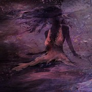 Mystical Landscape Art - She is the Wind by Rachel Christine Nowicki