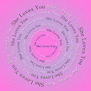 She Loves You 2 Print by Andee Design