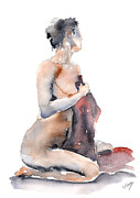Silver Nude Paintings - She loves you by John Silver