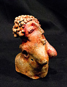 Featured Sculpture Originals - SHE painted stone by Mark M  Mellon