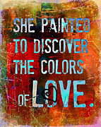 Affirmation Posters - She Painted Poster by Tara Catalano