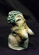 Primitive Art Sculpture Prints - SHE patina no 2 Print by Mark M  Mellon