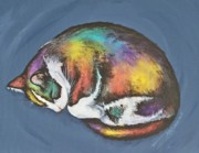 She Purrs In Color Print by Beth Clark-McDonal