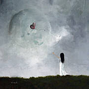 Sky Paintings - She Releases You by Shawna Erback by Shawna Erback