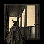 Ghost Walks Prints - She Walks the Halls Print by Barbara St Jean