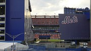 New York Mets Stadium Prints - Shea Peek Print by Sam Hutchins
