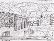 Shed Drawings - Shed 3 by Clark Letellier