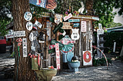 Shed Posters - Shed toilet bowls and plaques in Seligman Poster by RicardMN Photography